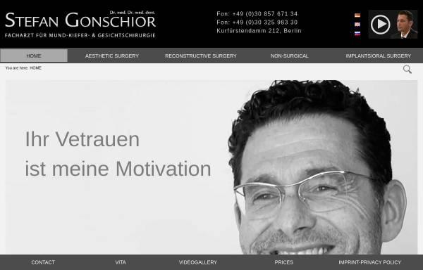 Vorschau von www.drgonschior.com, Dr. med. Dr. dent. Stefan Gonschior