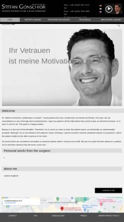Vorschau der mobilen Webseite www.drgonschior.com, Dr. med. Dr. dent. Stefan Gonschior
