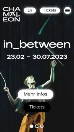 Vorschau der mobilen Webseite chamaeleonberlin.com, Chamäleon Theater GmbH