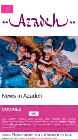 Vorschau der mobilen Webseite joumana.de, Azadeh