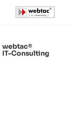 Vorschau der mobilen Webseite www.webtac.de, WebTac Multimedia Agentur - Lars Brinkmann