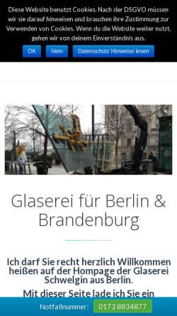 Vorschau der mobilen Webseite www.glaserei-schwelgin.de, Glaserei Schwelgin