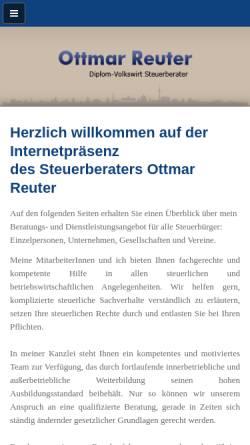 Vorschau der mobilen Webseite www.ottmar-reuter.de, Dipl.-Volkswirt Ottmar Reuter