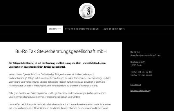 Vorschau von www.burotax.de, Bu-Ro Tax Steuerberatungsgesellschaft mbH