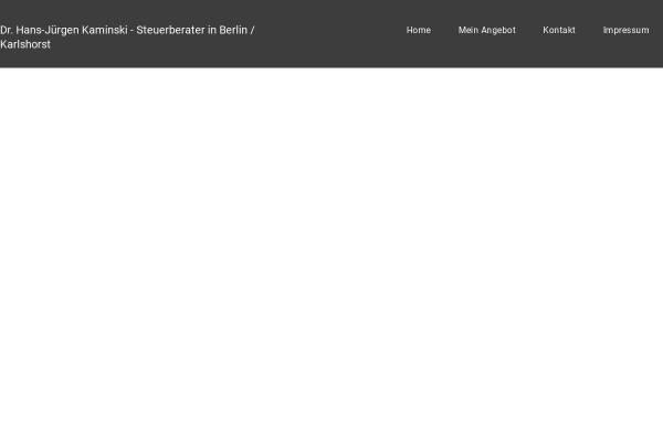 Vorschau von www.drtax.de, Dr. Hans-Jüegen Kaminski - Steuerberater