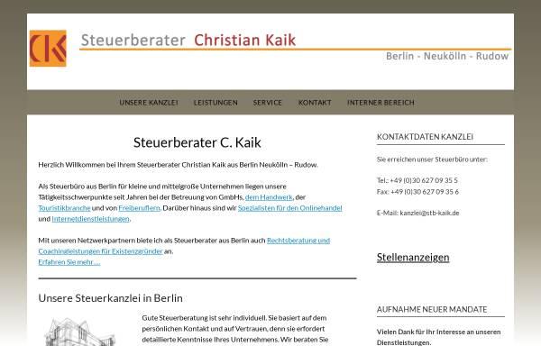 Vorschau von www.stb-kaik.de, Dipl. Kfm (FH) Christian Kaik