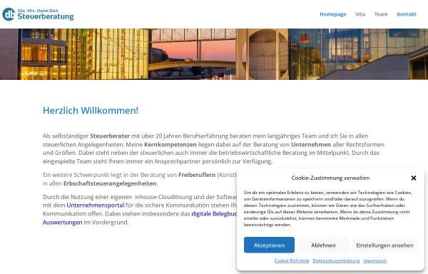 Vorschau von www.bock-berlin.de, Dipl.-Kfm. Daniel Bock -Steuerberater