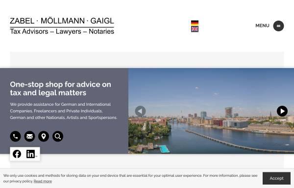 Vorschau von www.zabel-stb.de, Diplom Kaufmann Günther Zabel Steuerberater