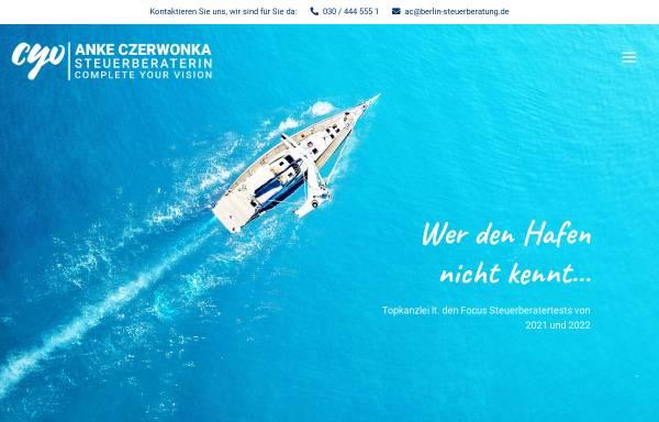 Vorschau von www.berlin-steuerberatung.de, Anke Czerwonka Steuerberaterin