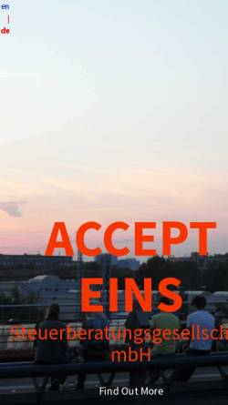 Vorschau der mobilen Webseite www.accept1.de, Accept Steuerberatungsgesellschaft mbH