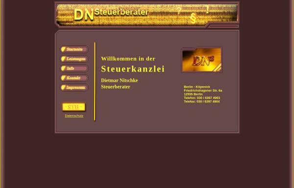 Vorschau von www.steuerberater-nitschke.de, Dietmar Nitschke - Steuerberater