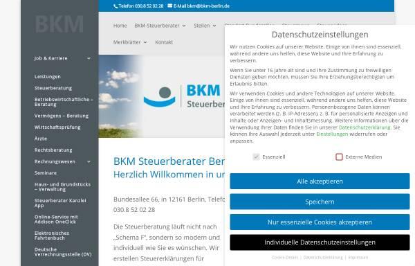 Vorschau von bkm-berlin.de, BKM Steuerberatungsgesellschaft mbH