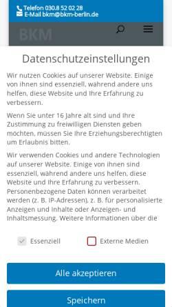 Vorschau der mobilen Webseite bkm-berlin.de, BKM Steuerberatungsgesellschaft mbH