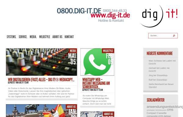 Vorschau von dig-it.de, dig it! GmbH