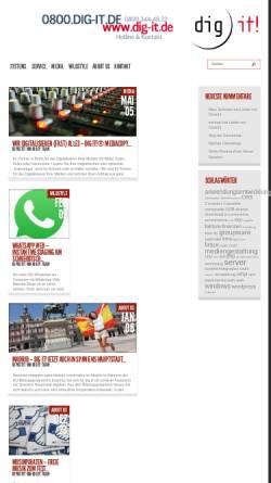 Vorschau der mobilen Webseite dig-it.de, dig it! GmbH