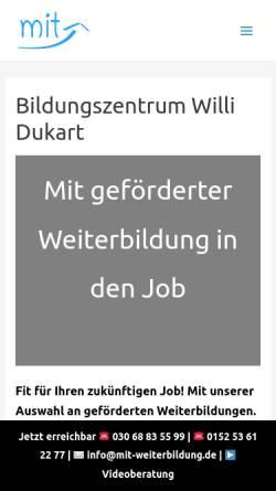 Vorschau der mobilen Webseite mit-weiterbildung.de, Willi Dukart