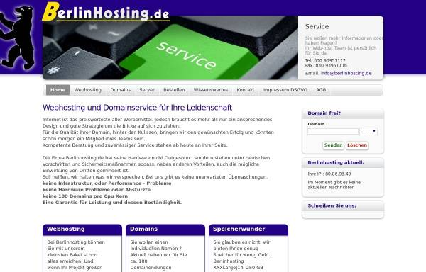 Vorschau von www.berlinhosting.de, Jan Rabensdorf