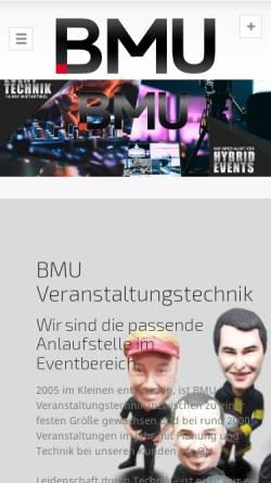 Vorschau der mobilen Webseite www.veranstaltungstechnik-event.de, Bmusik Veranstaltungstechnik GmbH & Co. KG