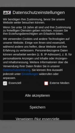 Vorschau der mobilen Webseite www.ptc-laser.de, PTC Laser