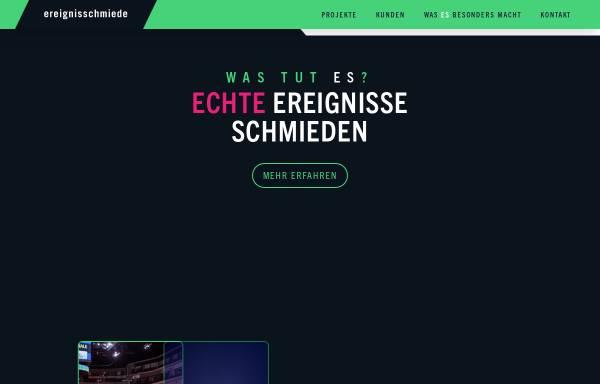 Vorschau von www.ereignisschmiede.eu, Ereignisschmiede GmbH