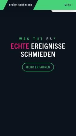 Vorschau der mobilen Webseite www.ereignisschmiede.eu, Ereignisschmiede GmbH