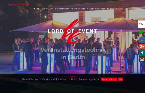 Vorschau von www.lord-of-event.de, Lord of Event GmbH