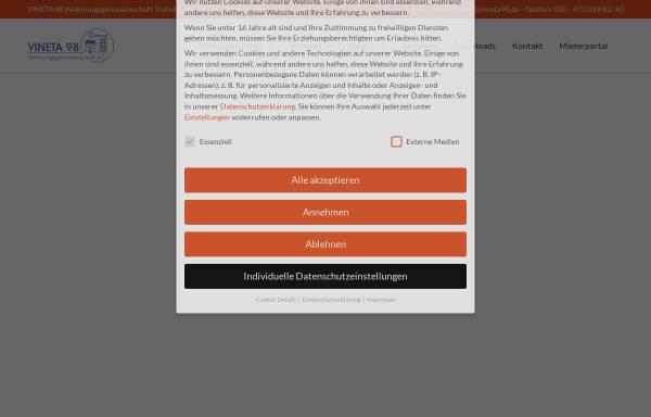 Vorschau von www.vineta98.de, Vineta 98 Wohnungsgenossenschaft eG