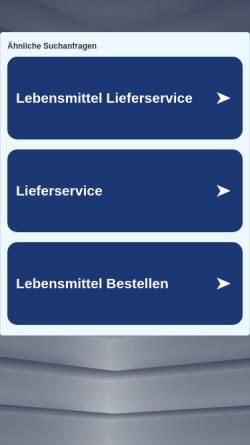 Vorschau der mobilen Webseite www.reichelt-berlin.de, E Reichelt Verwaltungsgesellschaft mbH