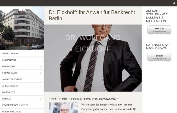Vorschau von www.finanzrecht-berlin.de, Kanzlei Dr. Wolfgang Eickhoff
