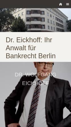 Vorschau der mobilen Webseite www.finanzrecht-berlin.de, Kanzlei Dr. Wolfgang Eickhoff