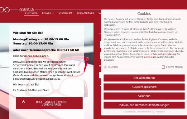 Vorschau von schaefers-berlin.de, Augenoptik Guntram Schäfers