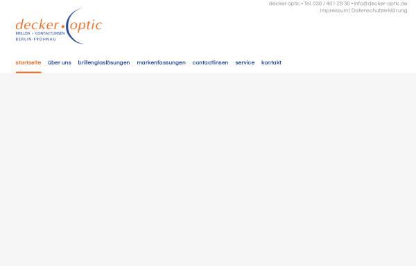 Vorschau von www.decker-optic.de, Decker Optic - Augenoptikermeister Rainer Decker
