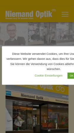 Vorschau der mobilen Webseite niemand-optik.de, G. Niemand - Augenoptik