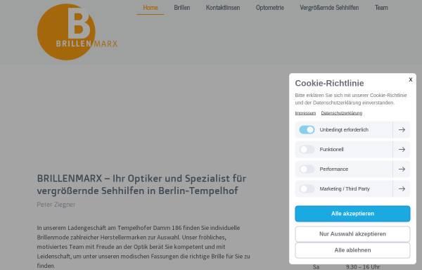 Vorschau von www.brillen-marx.de, Brillen Marx individuelle Brillenmode in Berlin