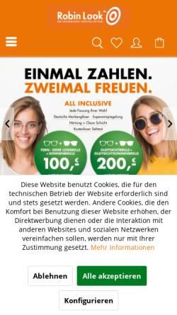 Vorschau der mobilen Webseite www.robinlook.de, Robin Look GmbH