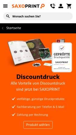 Vorschau der mobilen Webseite www.discountdruck.de, Discountdruck GmbH