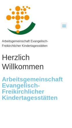 Vorschau der mobilen Webseite www.agef-kitas.de, Arbeitsgemeinschaft evangelisch-freikirchlicher Kindertagesstätten