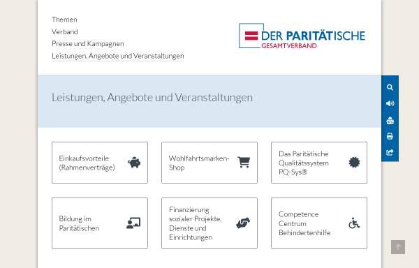 Vorschau von www.paritaetische-akademie.de, Paritätische Akademie