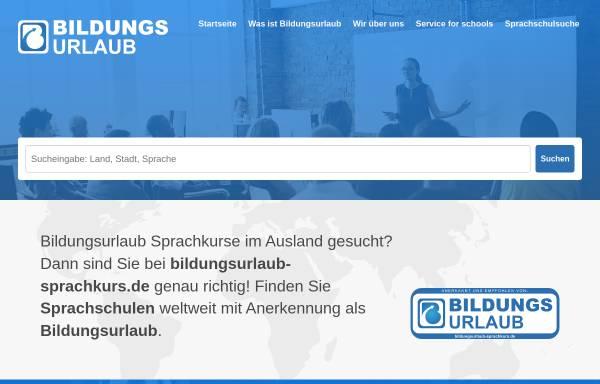 Vorschau von www.bildungsurlaub-sprachkurs.de, Bildungsurlaub-Sprachkurs.de