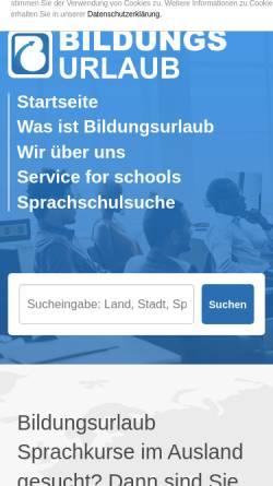 Vorschau der mobilen Webseite www.bildungsurlaub-sprachkurs.de, Bildungsurlaub-Sprachkurs.de
