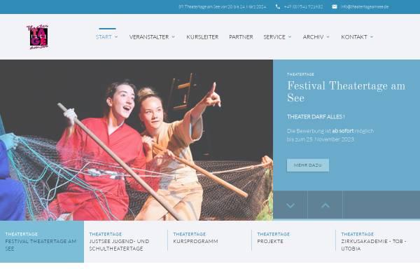 Vorschau von www.theatertageamsee.de, Theatertage am See - Festival des Internationalen Amateurtheaters