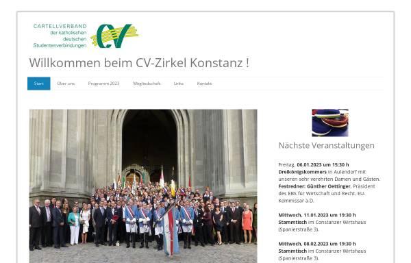 Vorschau von www.cvz-konstanz.net, CV-Zirkel Konstanz