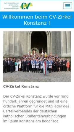 Vorschau der mobilen Webseite www.cvz-konstanz.net, CV-Zirkel Konstanz