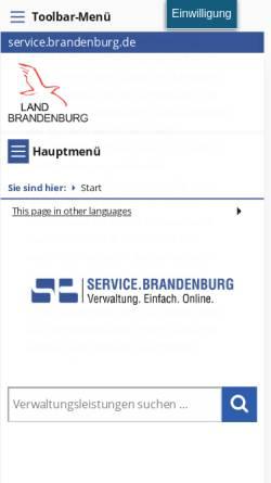 Vorschau der mobilen Webseite service.brandenburg.de, Service.brandenburg.de - Ministerium des Innern und für Kommunales des Landes Brandenburg