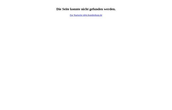 Vorschau von www.mbjs.brandenburg.de, Schulverzeichnis des Landes Brandenburg - Ministerium für Bildung, Jugend und Sport (MBJS)