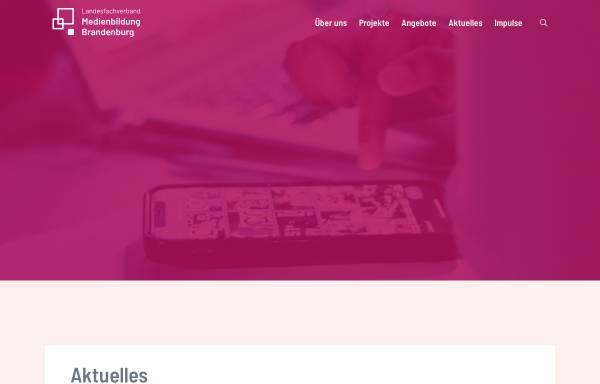 Vorschau von www.medienbildung-brandenburg.de, Landesfachverband Medienbildung Brandenburg e.V.