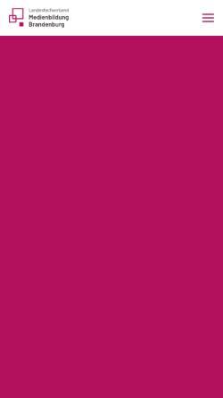 Vorschau der mobilen Webseite www.medienbildung-brandenburg.de, Landesfachverband Medienbildung Brandenburg e.V.