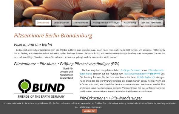 Vorschau von www.pilz-seminare.de, Pilzseminare Berlin - Brandenburg - Baltikum Tours H&Z GmbH