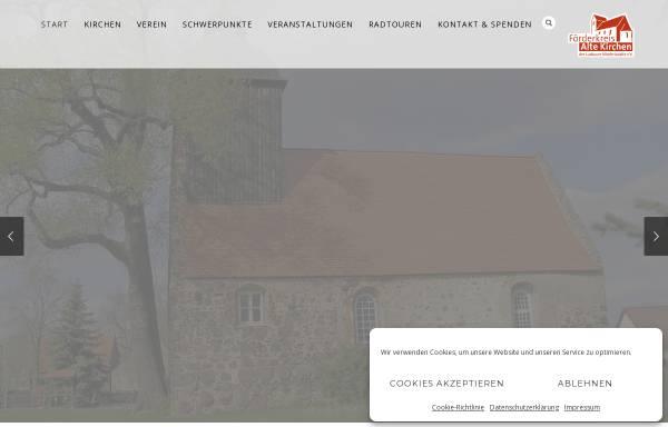 Vorschau von www.kirchen-luckauer-niederlausitz.de, Förderkreis Alte Kirchen der Luckauer Niederlausitz e.V.