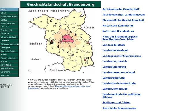 Vorschau von www.geschichtsmanufaktur-potsdam.de, GeschichtsManufaktur Potsdam - Dr. Volker Punzel